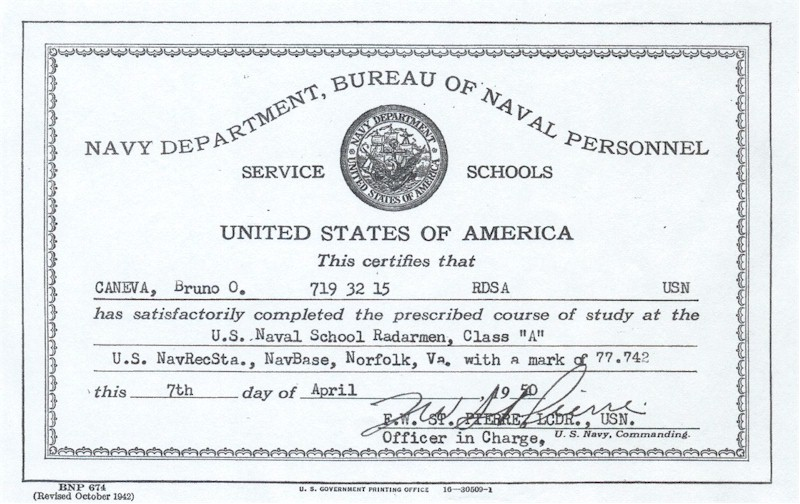 The paper trail graduation certificate from navy service school yadclub Images